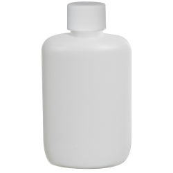 2 oz. White HDPE Oval Bottle with 20/410 Plain Cap with F217 Liner