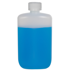 4 oz. Natural HDPE Oval Bottle with 24/410 CRC Cap