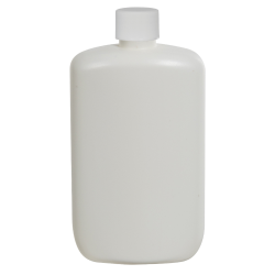4 oz. White HDPE Oval Bottle with 20/410 Plain Cap with F217 Liner