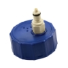 "GL45 HDPE Cap with Valved 1/4"" PMC12 Insert"