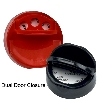 43/485 Black 3 Hole Dual Door Spice Cap with Heat Induction Liner for PET Jars