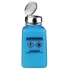 6 oz. DurAstitic™ Blue HDPE Bottle with Isopropanol HCS Label with Pump