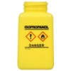 6 oz. DurAstitic™ Yellow HDPE Bottle with Isopropanol HCS Label  (Pump Sold Separately)
