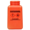 6 oz. DurAstitic™ Orange HDPE Bottle with Isopropanol HCS Label  (Pump Sold Separately)