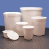 White HDPE Specimen Containers