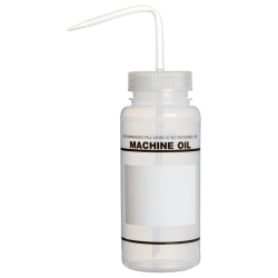 16 oz. Machine Oil Wash Bottle with 53mm Natural Cap