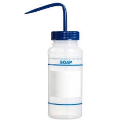 16 oz. Soap Wash Bottle with 53mm Blue Cap
