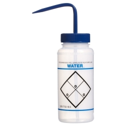 16 oz. Water Wash Bottle with 53mm Blue Cap