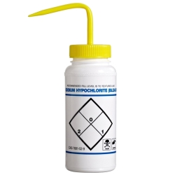 16 oz. Bleach Water Wash Bottle with 53mm Yellow Cap