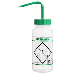 16 oz. Methanol Wash Bottle with 53mm Green Cap