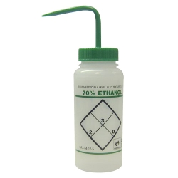 16 oz. 70% Ethanol Wash Bottle with 53mm Green Cap