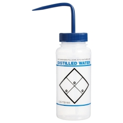 16 oz. Distilled Water Wash Bottle with 53mm Blue Cap