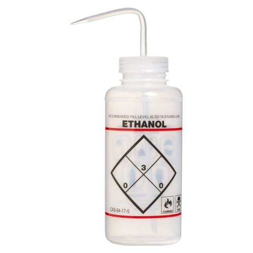 32 oz. Ethanol Wash Bottle with 53mm Natural Cap