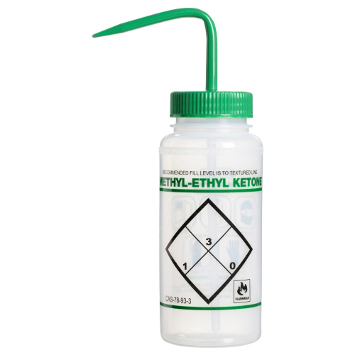 16 oz. Scienceware® Methyl Ethyl Ketone (MEK) Wash Bottle with 53mm Green Cap