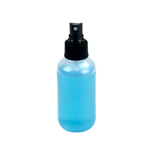 4 oz. Boston Round Spray Bottle with Black Finger Sprayer