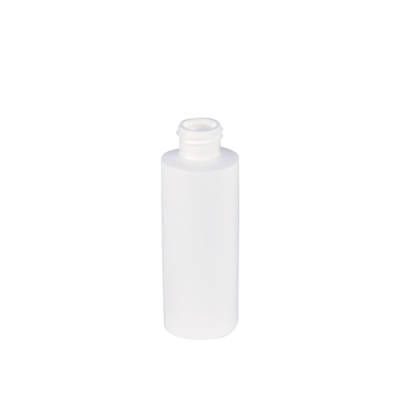 4 oz. White Cylinder Bottle with 24/410 Neck (Cap Sold Separately)