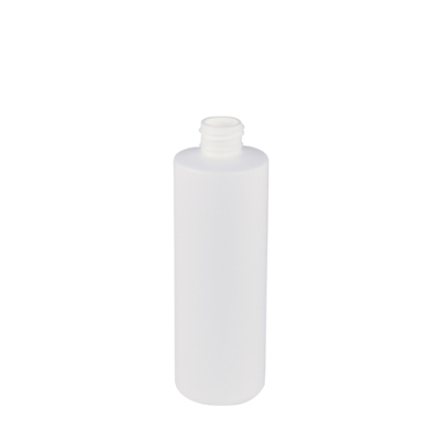 8 oz. White Cylinder Bottle with 24/410 Neck (Cap Sold Separately)