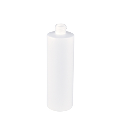 12 oz. White Cylinder Bottle with 24/410 Neck (Cap Sold Separately)