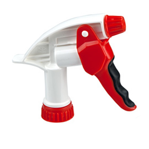"28/400 Red & White Big Blaster Cushion Grip Sprayer with 7-1/4"" Dip Tube"