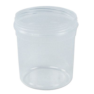 32 oz. Clarified Polypropylene Tapered Tub (Cap Sold Separately)