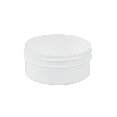 2 oz. Polypropylene Low Profile White Jar with 70mm Neck (Cap Sold Separately)