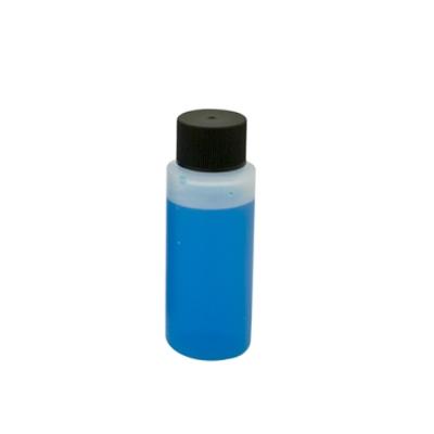 2 oz. HDPE Cylinder Bottle with Black Cap