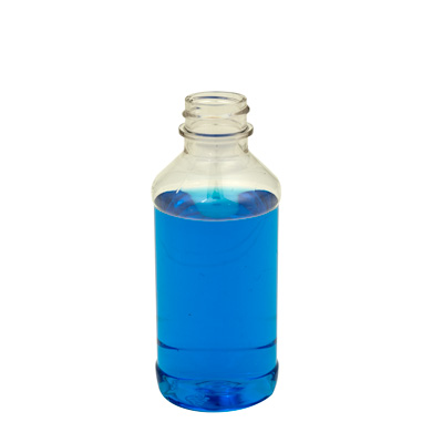 4 oz. Modern Round Clear PET Bottle with 24/400 Neck (Cap Sold Separately)