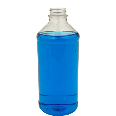 16 oz. Modern Round Clear PET Bottle with 28/400 Neck (Cap Sold Separately)