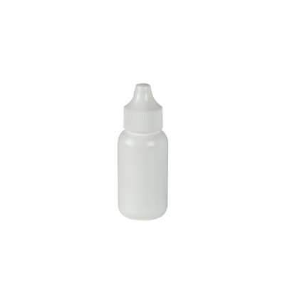 30mL White Boston Round Bottle with 20mm Dropper Cap