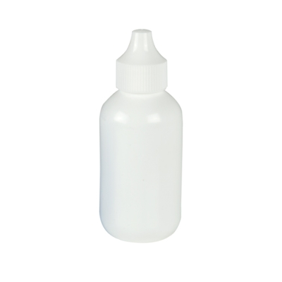 60cc White Boston Round Bottle with 20mm Dropper Cap