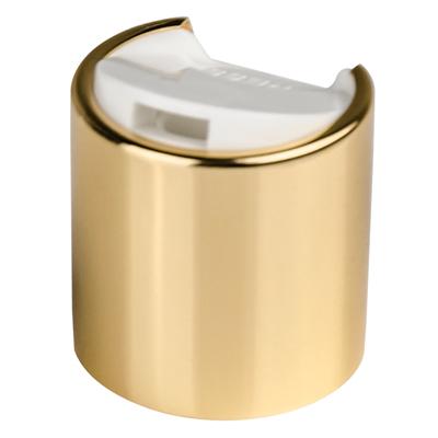 24/410 Gold & White Disc Top Cap