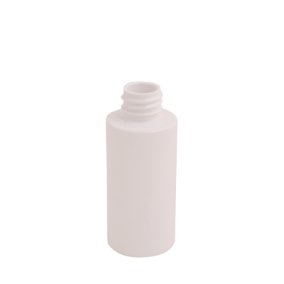 2 oz. White PET Cylinder Bottle with 20/410 Neck (Cap Sold Separately)