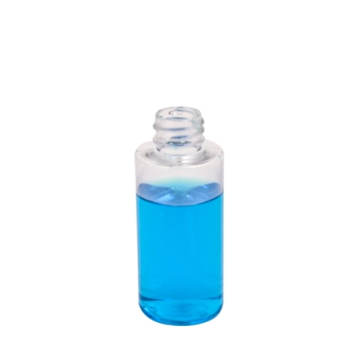 2 oz. Clear PET Cylindrical Bottle with 20/410 Neck (Cap Sold Separately)