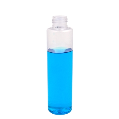 4 oz. Clear Slim PET Cylinder Bottle with 24/410 Neck (Cap Sold Separately)