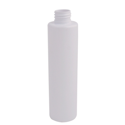 6 oz. White Slim PET Cylinder Bottle with 24/410 Neck (Cap Sold Separately)