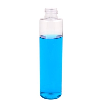 6 oz. Clear Slim PET Cylinder Bottle with 24/410 Neck (Cap Sold Separately)