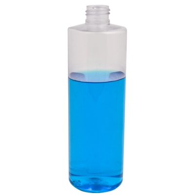 12 oz. Clear PET Cylindrical Bottle with 24/410 Neck (Cap Sold Separately)