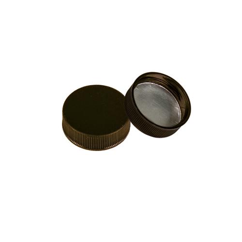 28/400 Polypropylene Black Cap with Heat Induction Liner