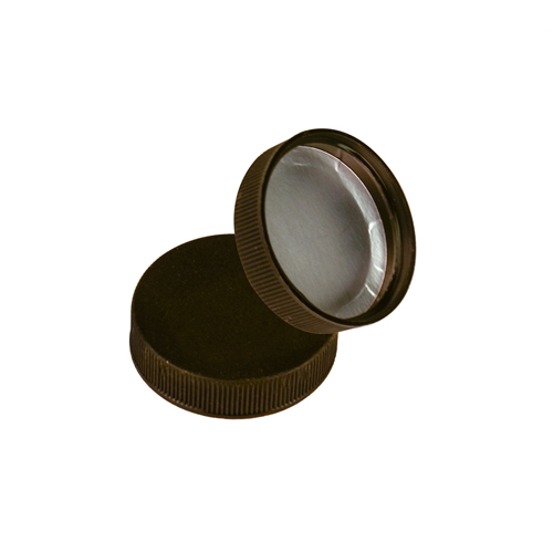 38/400 Polypropylene Black Cap with Heat Induction Liner