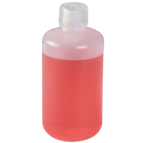 4 oz./125mL Nalgene™ Narrow Mouth HDPE Economy Bottles