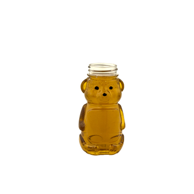 8 oz. PET Honey Bear Bottle with 38/400 Neck (Cap Sold Separately)