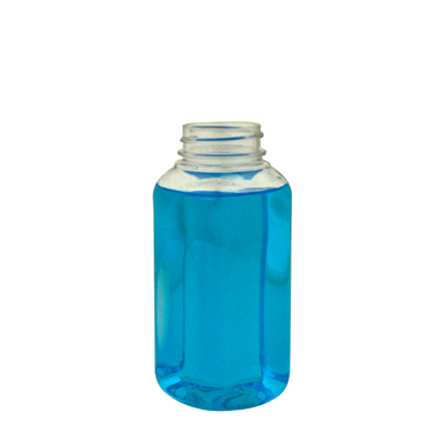 8 oz. Square PET Bottle with 38/400 Neck  (Cap Sold Separately)