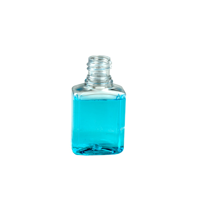 1 oz. Clear PET Indented Rectangular Amenity Bottle with 18/415 Neck (Cap Sold Separately)