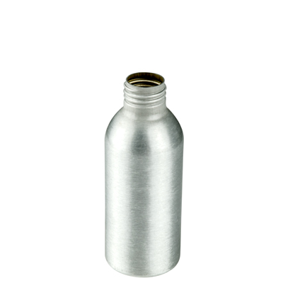 4 oz. Brushed Aluminum Bottle with 24/410 Neck (Cap, Sprayer & Pump Sold Separately)
