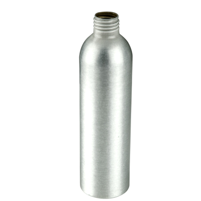 8 oz. Brushed Aluminum Bottle with 24/410 Neck (Cap, Sprayer & Pump Sold Separately)