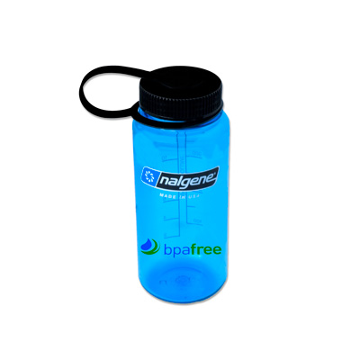 Slate Blue 16 oz. Nalgene® Tritan™ Wide Mouth Loop-Top Bottle