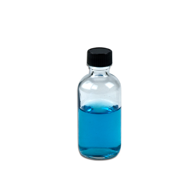 2 Oz Clear Boston Round Glass Bottles With 20 400 P Caps