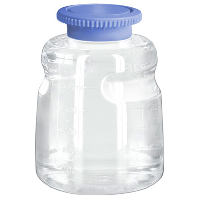 500mL Polycarbonate Sterile Bottles with Polypropylene Caps