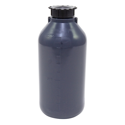 1000mL Kartell LDPE Graduated Narrow Mouth Gray Bottle with Cap