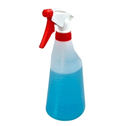 22 oz. Oval Spray Bottle with 28/400 Red & White Sprayer